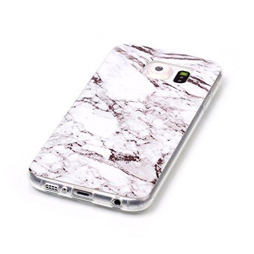 rígida S6 Polvo Carcasa nbsp;– para Back Cover smartphone Diseño TPU Case nbsp;Protective Cover smartphone mármol Skin funda Samsung Galaxy mármol Conector Samsung nbsp;con 3 1 nbsp;con marrón Diseño Galaxy en S6 FwqPZ1