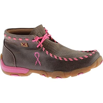 Twisted X Girls' Breast Cancer Moccasin Boot Moc Toe - Ydm0026