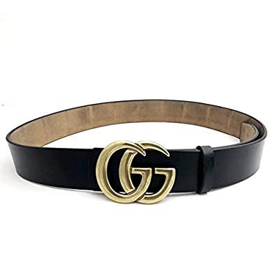 Fashion G-Style Gold Buckle Unisex Cowhide Leather Belt Vintage Thin Dress Belts For Jeans