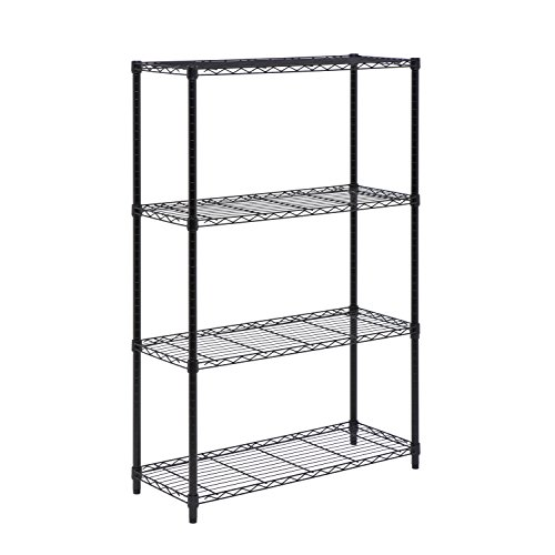 - Honey-Can-Do SHF-03936 4-Tier Shelving Unit Rack with 350-Pound Capacity, 14 x 36 x 54-Inch