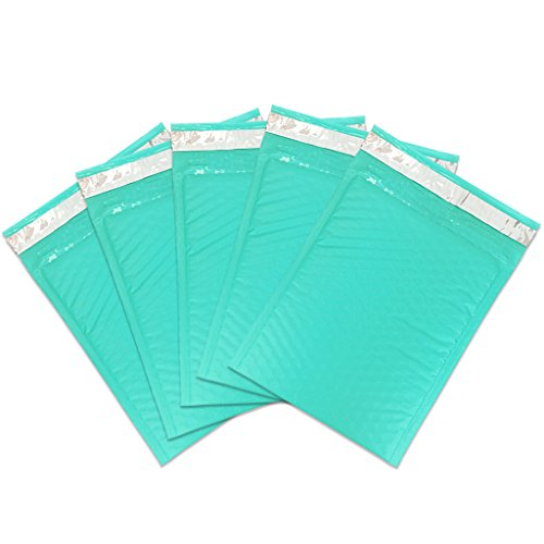 Beauticom TEAL (30 Pieces) #0, 6x10 Self-Seal Poly Bubble Mailer 6.25'' x 9 1/4'' by Beauticom