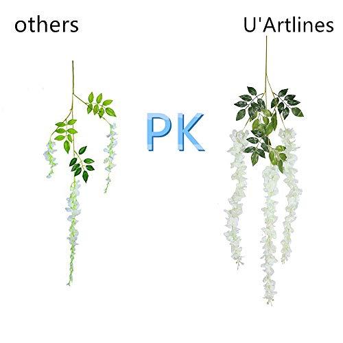 UArtlines-24-Pack-36-FeetPiece-Artificial-Fake-Wisteria-Vine-Ratta-Hanging-Garland-Silk-Flowers-String-Home-Party-Wedding-Decor-24-White