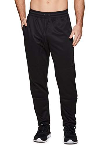 RBX Active Men's Tapered Pant With Bonded Zip Pocket Black M