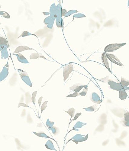 (York SO2441 Candice Olson Tranquil Linden Flower Wallpaper,)