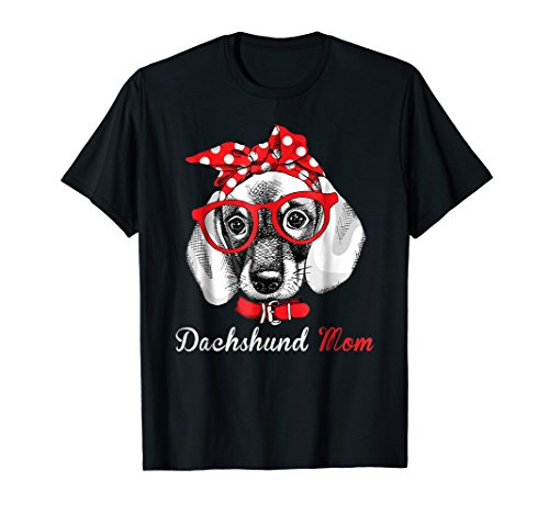 Dachshund Mom Shirt for Doxie Wiener Lovers-Mothers Day Gift