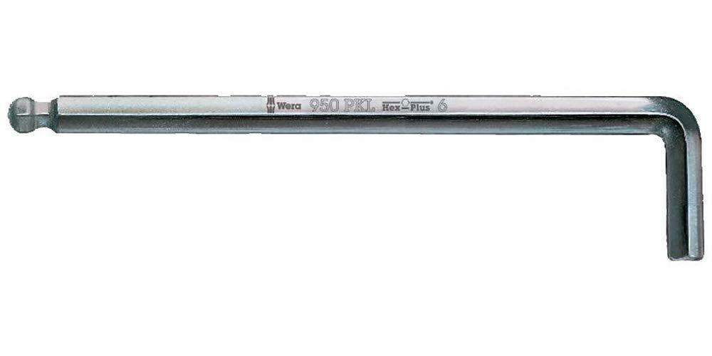metrisch 4 Wera 5022058001 0007658590050 950 PKL Winkelschl/üssel gestellverchromt 4.0x140