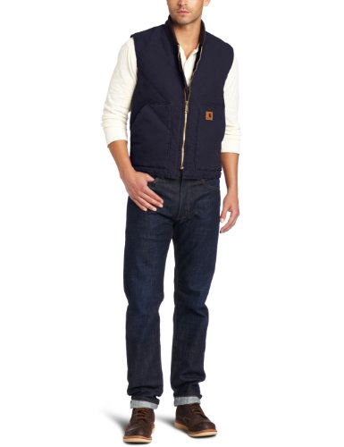Carhartt Men's Big & Tall Sandstone Vest Arctic Quilt Lined,Midnight,Large - Lined Quilt Arctic Coat