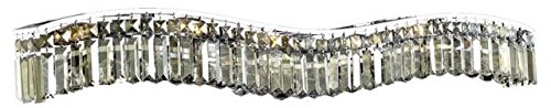Dakota Chrome Traditional 10-Light Vanity Fixture Heirloom Handcut Crystal in Golden Teak -1736W44C-GT-RC--44