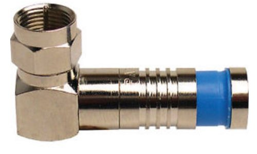 Platinum Tools 18003 F RG6Q RA Compression, Nickel 3/Clamshell, Pack of 3 Nickel Rg6 F Connectors