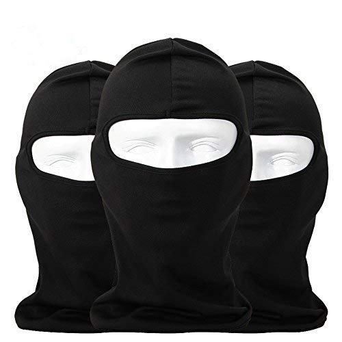Sunland Balaclava Ski Helmet Sock Cold Weather Face Mask for Motorcycle Cycling Bike Windproof Full Face Cover 3 Black