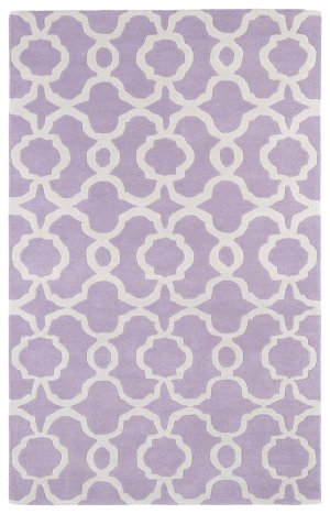 Kaleen Rugs Revolution Collection REV03-90 Lilac Hand Tufted 3' x 5' Rug from Kaleen Rugs