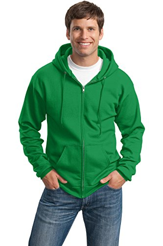 Bell Clover (Port & Company Men's Classic Full Zip Hooded Sweatshirt XXL Clover Green)