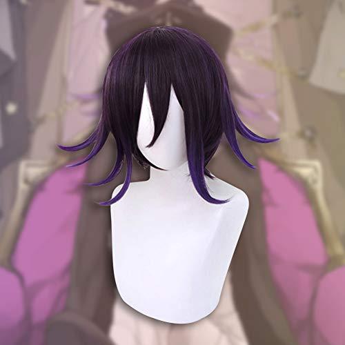 Miss House Danganronpa Wig Anime Danganronpa Character Play Cosplay Wigs Anime Hair Synthetic Hair for Women Girls Hair Anime Accessories(Ouma Kokichi)