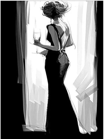 DIY 5D Kit de pintura de diamante Taladro completo Cabello negro Princesa Bordado Punto de cruz DIY Art Craft Home Wall brvbar; cor Herramienta de pintura de diamante incluida