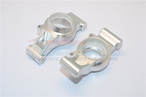 Traxxas X-Maxx 4X4 Upgrade Parts Aluminum Rear Knuckle Arms With Collars - 1Pr Set Silver (Arm Knuckle Set)