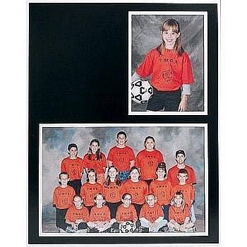 Baseball Team Pictures - GROUP/PORTRAIT 7x5/3.50x5 MEMORY MATES Black cardstock double photo frame w/white border sold in 10's - 5x7
