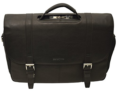 Samsonite Colombian Leather Flapover Case (Black/Chrome) by Samsonite (Image #1)