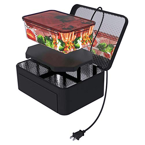 Aotto Portable Oven Personal Food Warmer for Prepared Meals Reheating & Raw Food Cooking at Work Without Using Office Microwave from Aotto