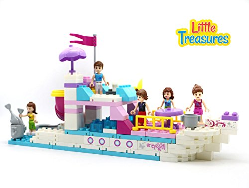 - Little Treasures Fun Cruising Ship - Building Block Game, 118 pcs for 3+ preschoolers