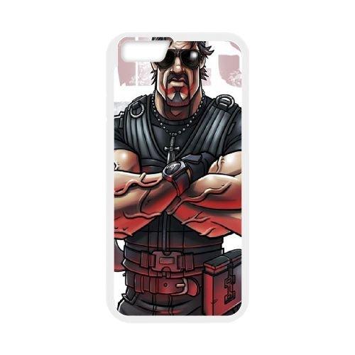 Sylvester Stallone coque iPhone 6 Plus 5.5 Inch cellulaire cas coque de téléphone cas blanche couverture de téléphone portable EEECBCAAN08609
