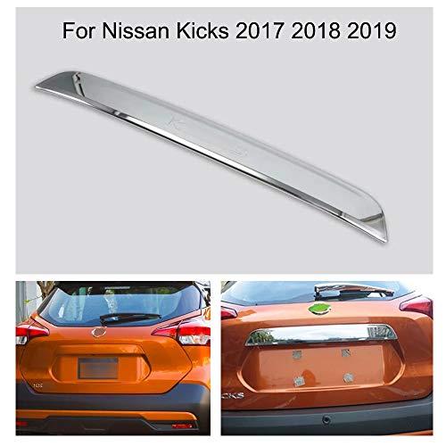 (Yingchi Chrome Car Rear Door Trunk Lid Protect Cover Trim for Nissan Kicks 2017 2018 2019)