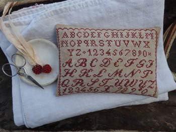 Little Redwork Pinkeep Cross Stitch Chart