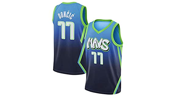 Auart # 77 Luka Doncic Aficionado a los Deportes Jersey Mavericks ...
