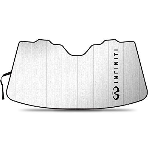 iPick Image - Stand Up Universal Fit Premium Folding Windshield Sunshade - Infiniti Logo for G35 G37 Q50 Q60