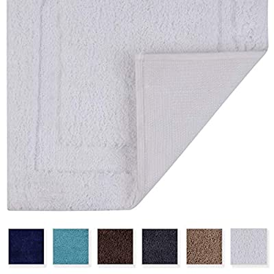TOMORO Non-Slip Bathroom Rug Super Absorbent Bath Mat Extra Soft Microfibers Non-Skid TPR Bottom (17.5 x 27 inch, White) - Add a lavish spa feel to the bath or home with the 100% microfiber extra absorbent and shaggy soft plush bath mat measuring 17.5 x 27 inches These thick and durable microfiber bath rugs deliver a more lush texture with every wash and super water absorption. Our bath rugs dry up quickly and keep your bathroom moisture free. Non-Slip Bath Rug with Waterproof Backing: Featuring a premium quality waterproof TPR backing to help keep rugs in place and provide a secure and comfortable footing while protecting your floors. - bathroom-linens, bathroom, bath-mats - 41jDFK1z1pL. SS400  -