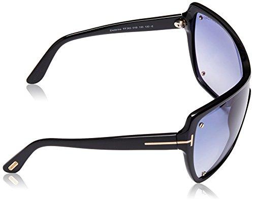 Tom Ford Lunettes de soleil 0363 Pour Femme Shiny Black / Gradient Smoke Noir
