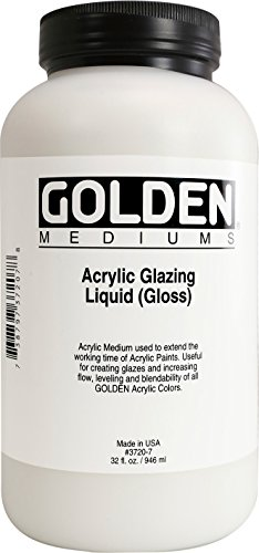 Medium 32 Ounce Jar (Golden Acrylic Glazing Liquid Satin - 32 oz Jar)