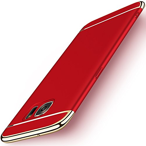 Samsung S7 Case, NAISU Galaxy S7 Back Cover, Ultra Slim & Rugged Fit Shock Drop Proof Impact Resist Protective Case, 3 in 1 Hard Case for Samsung Galaxy S7 - Red
