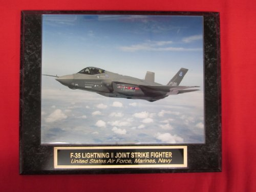 Jsf Strike Fighter - US Navy F-35 Lightning Joint Strike Fighter Collector Plaque w/8x10 Photo!