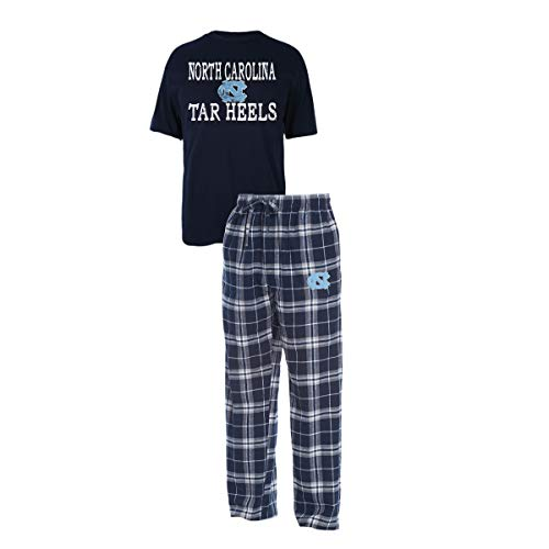 - Concepts Sport Men's NCAA Duo Flannel Pajamas and T-Shirt Sleep Set-North Carolina Tar Heels-XL