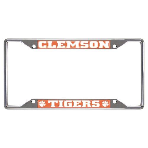 SLS Clemson Tigers Colored Metal License Plate Frame ()