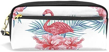 imobaby Flamingoピンク花柄ポータブルポーチPUレザー学校ペンケースStationary鉛筆バッグWater ProofコスメティックバッグメイクアップBeauty Case