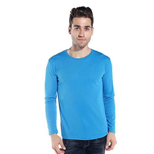 Century Star Men's Quick-drying Long Sleeves Sportswear Athletic T-shirts Blue Large/Tag - Cheapest Jerseys Soccer Online