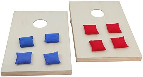 Size 4x2/' Bean Bag Toss Cornhole Board Game Set  Unfinished Solid Wood