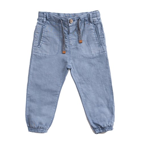Marc janie Baby Toddler Boys' Solid Linen Long Pants 3T Blue