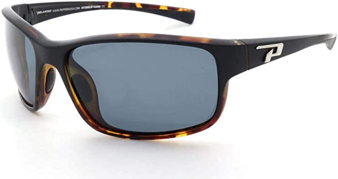 NEW Peppers PIPELINE Matte Black//Smoke Polarized Lens Sunglasses