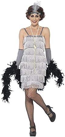 Smiffys Disfraz de charlestón años 20 Plateado: Amazon.es ...