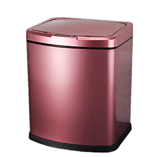 JenLn Container met recycling 5L capaciteit roestvrij staal intelligente inductie trash can keuken woonkamer creatieve…