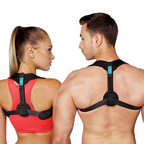 Netynovis Posture Corrector for Women and Men, Upper Back Brace for Pain Relief from Neck, Back and Shoulder, Adjustable Clavicle Brace