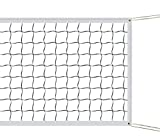 ATINUS Volleyball Net, Outdoor Sports Classic Volleyball Net for Garden Schoolyard Backyard Beach Standard Size (32 FT x 3 FT) Training Equipment with Steel Cable Rope