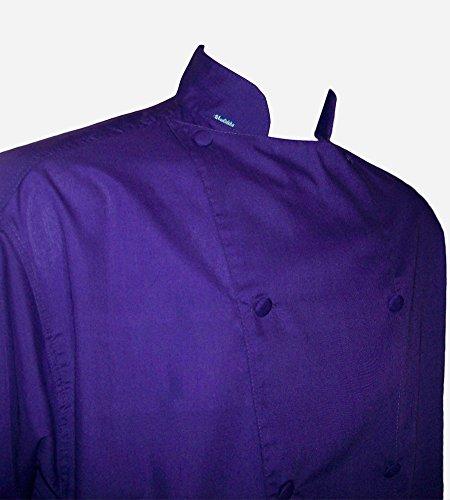 Chefskin Chef Jacket Coat Purple Short Sleeve Ultra Ligth...