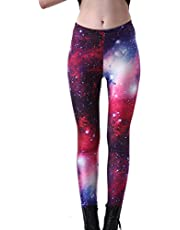 Fanii Quare Newest Elastic Slimming Floral Active Print Leggings Footless Tights