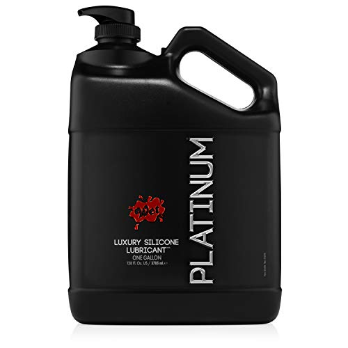 Wet Platinum Silicone Lubricant Gallon Body Glide Lube, 128 Ounce
