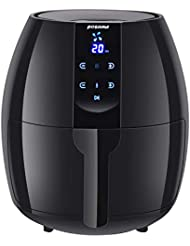 Posame 4.2 Quarts Air Fryer Electric Digital Programmable Hot Air Fryer Oven Family Size Oilless Deep Fryer with LCD Touch Screen,Automatic Shut Off,Memory Function,1500-Watt,Black