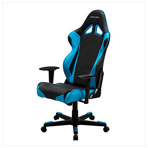 DXRacer Racing Series DOH/RE0/NB Newedge Edition Racing Bucket Seat Office Chair Gaming Chair Ergonomic Computer Chair eSports Desk Chair Executive Chair Furniture With Pillows(Black/Blue)