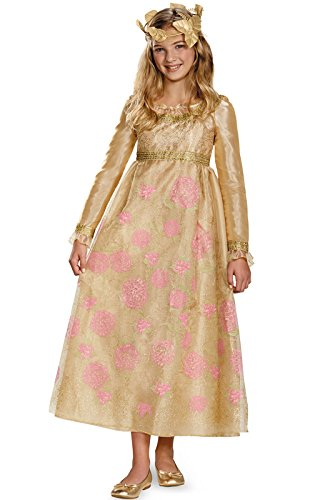[Disguise Disney Maleficent Movie Aurora Coronation Gown Girls Prestige Costume, Medium/7-8] (Maleficent Halloween Costumes For Girl)